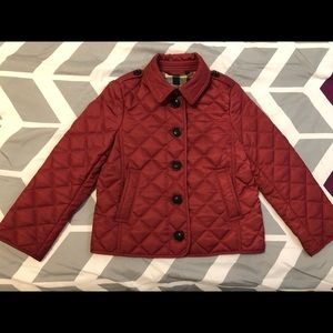 Size 4 kids Burberry quilted jacket